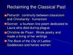 reclaiming the classical past