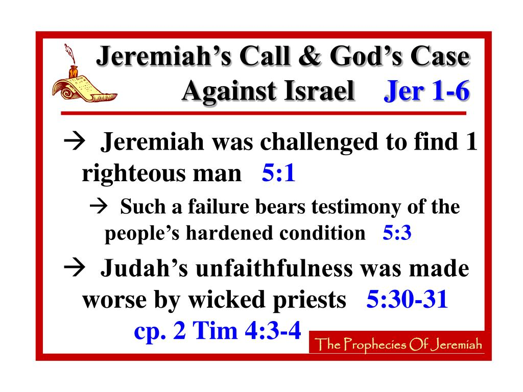 Jeremiah's Call & God's Case Against Israel