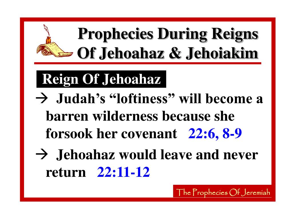 Reign Of Jehoahaz