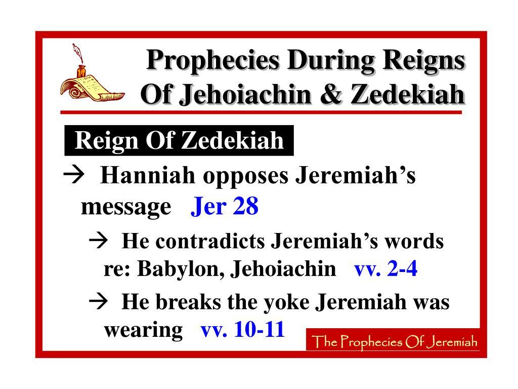 Reign Of Zedekiah
