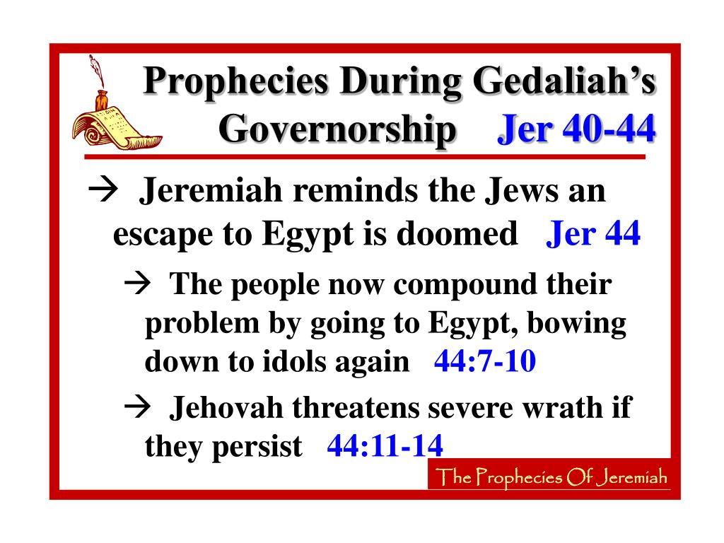 Prophecies During Gedaliah's Governorship