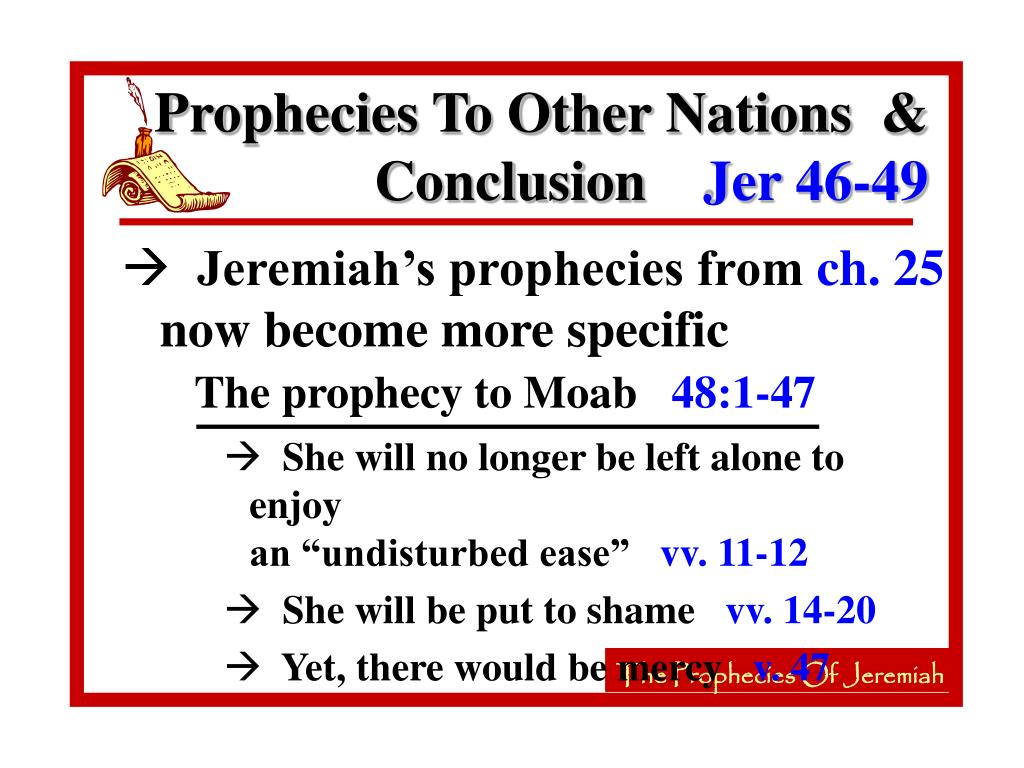 The prophecy to Moab