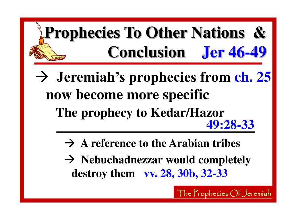 The prophecy to Kedar/Hazor