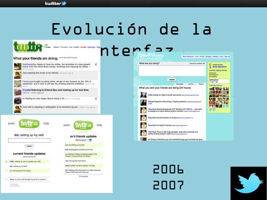 Evolución de la Interfaz