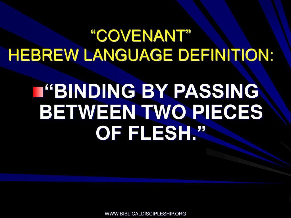 """COVENANT"""