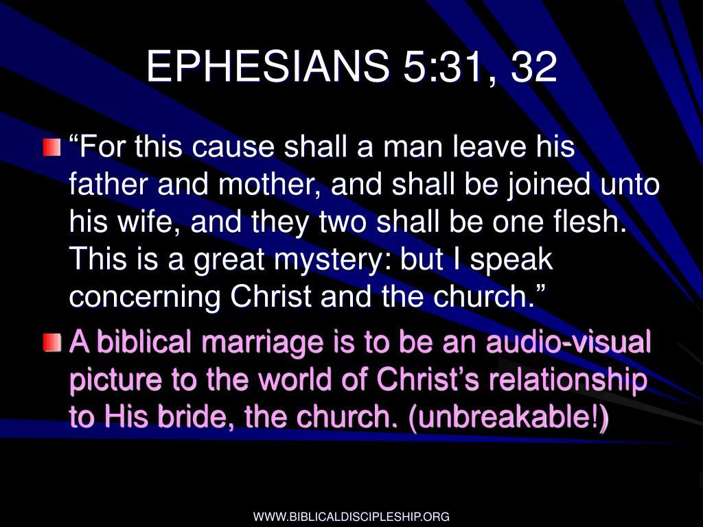 EPHESIANS 5:31, 32
