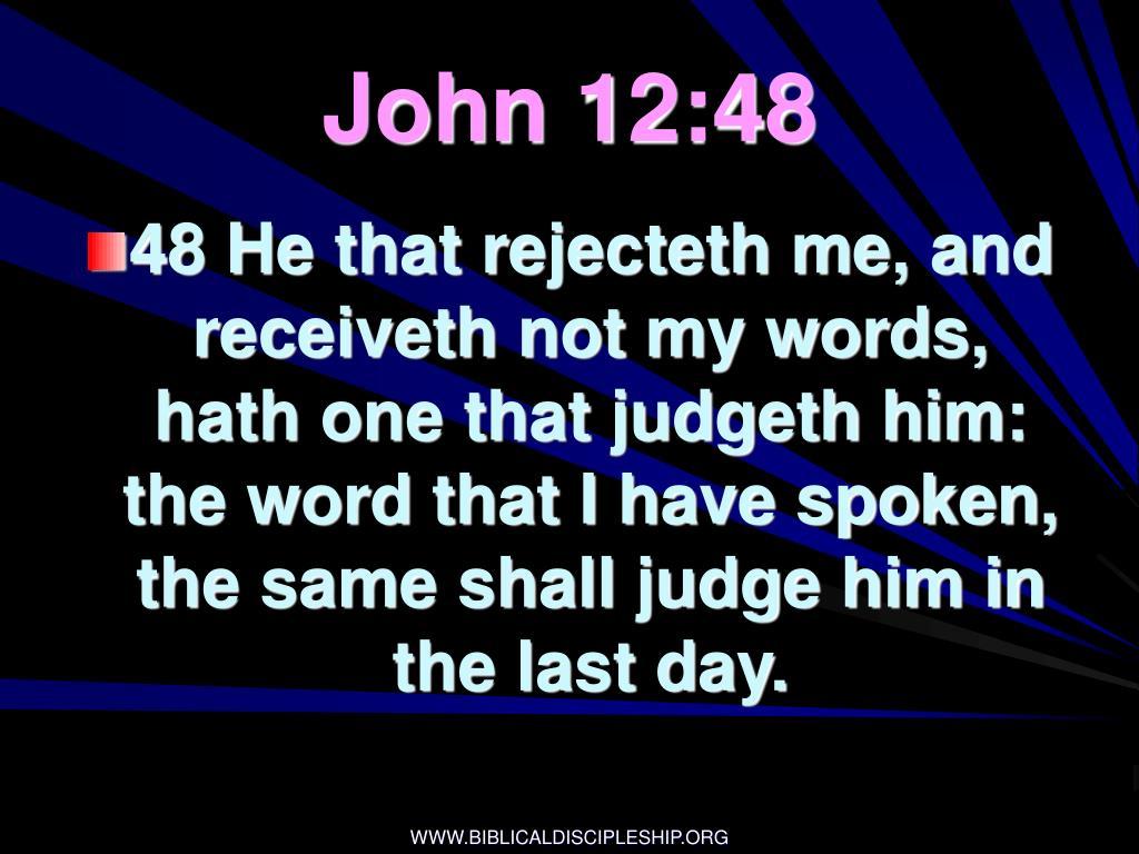 John 12:48