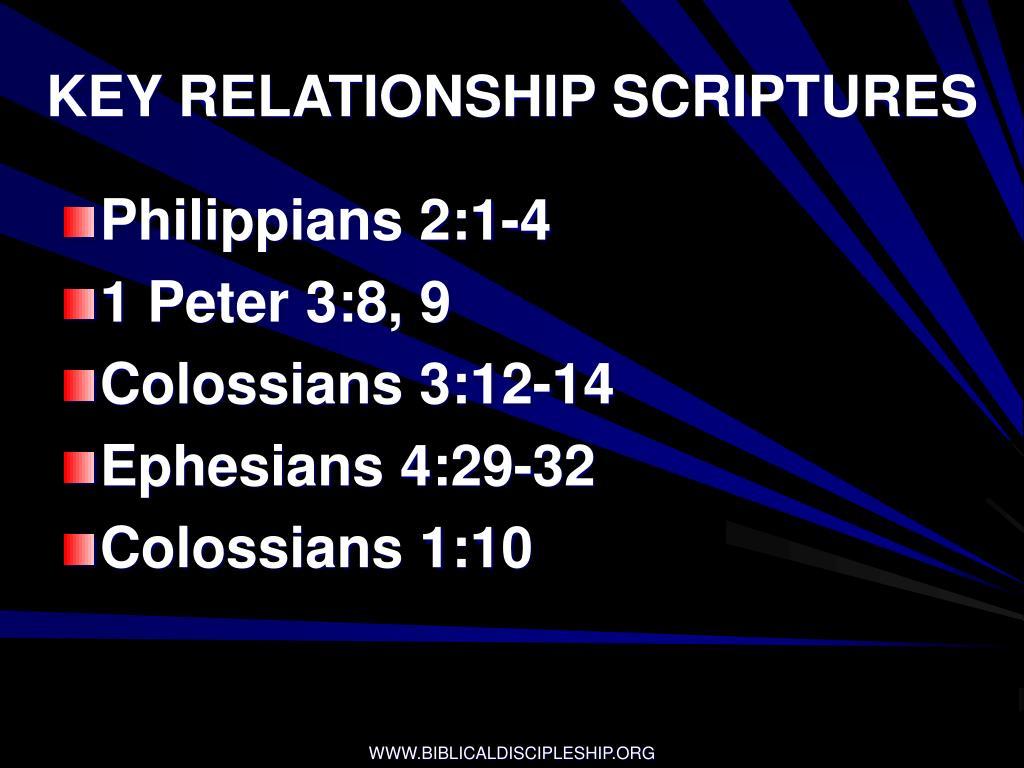 KEY RELATIONSHIP SCRIPTURES