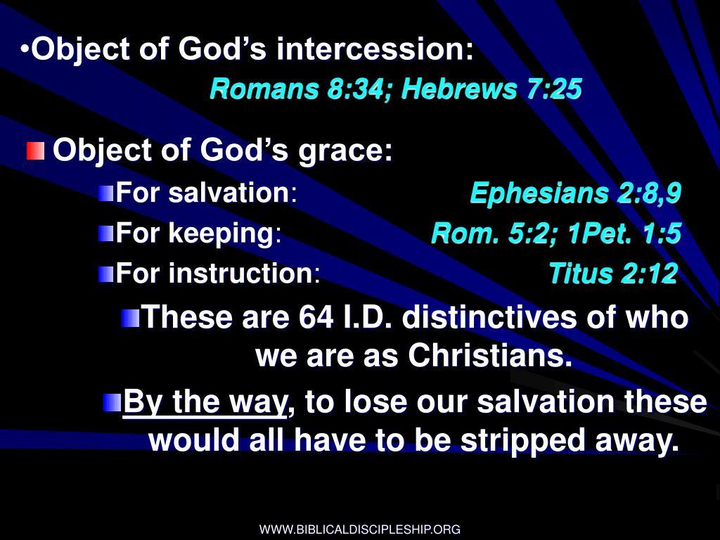 Object of God's intercession: