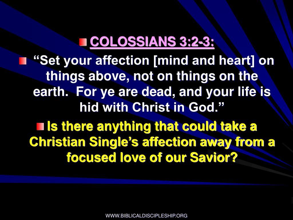 COLOSSIANS 3:2-3:
