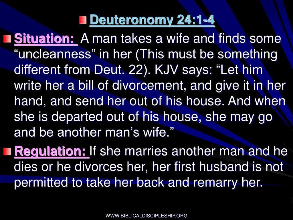 Deuteronomy 24:1-4