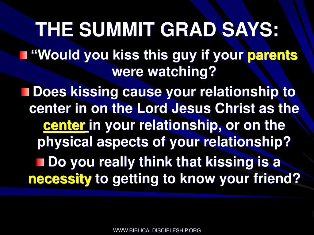 THE SUMMIT GRAD SAYS: