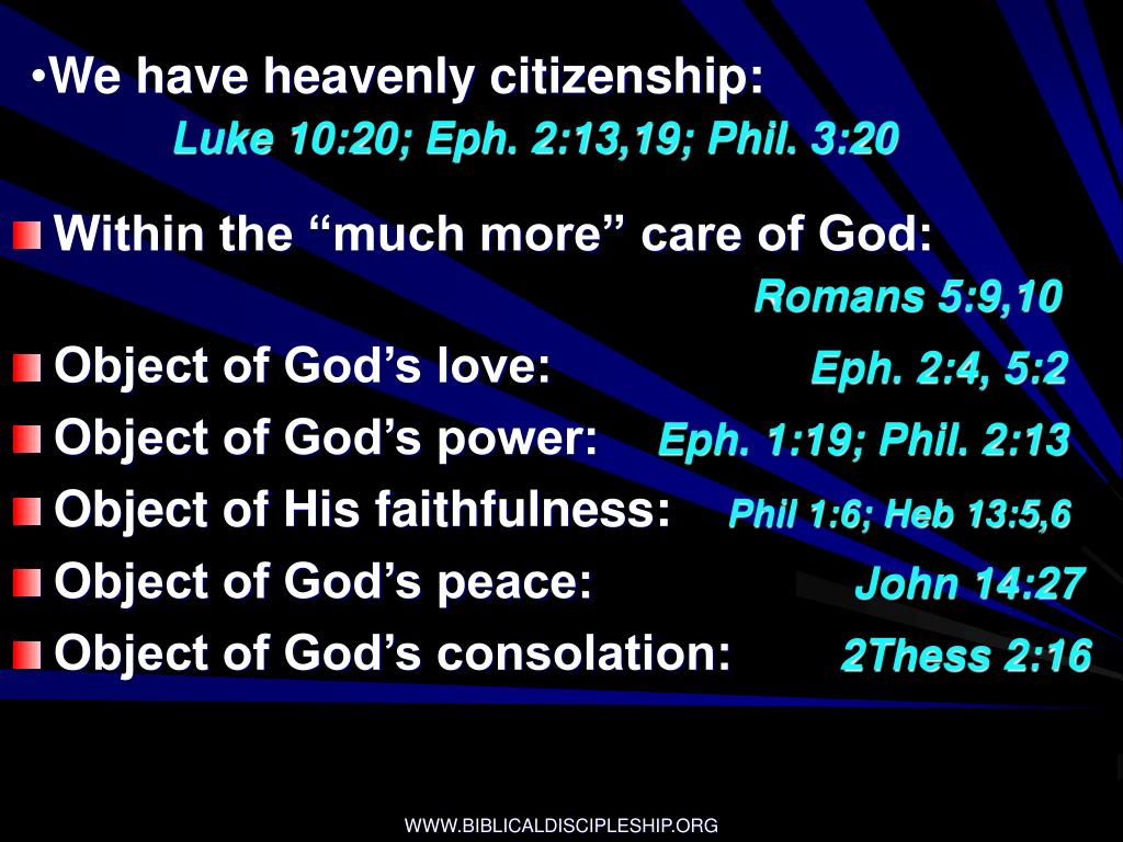 We have heavenly citizenship: