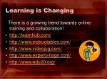 learning is changing