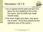 revelation 19 7 9
