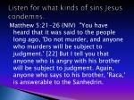listen for what kinds of sins jesus condemns