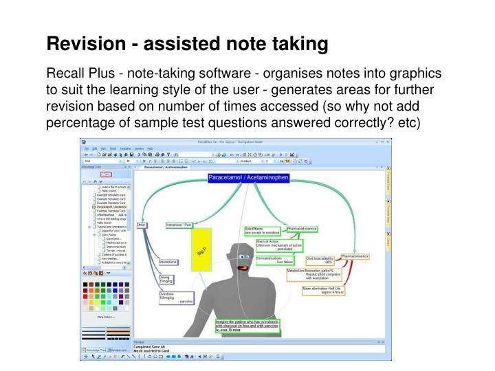 Revision - assisted note taking