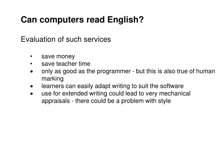 Can computers read English?
