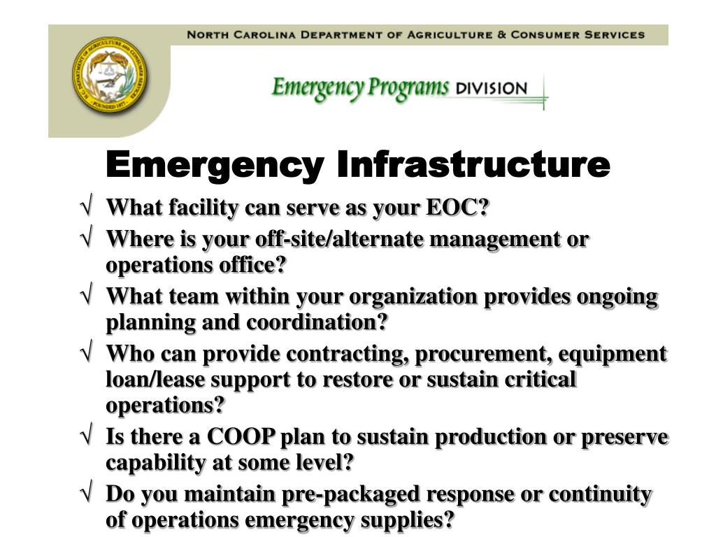 Emergency Infrastructure