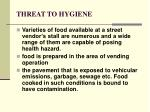 threat to hygiene