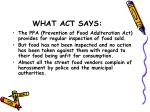 what act says