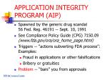 application integrity program aip