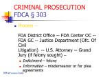criminal prosecution fdca 303