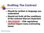 drafting the contract