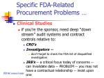 specific fda related procurement problems49