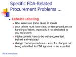 specific fda related procurement problems50