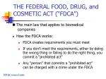 the federal food drug and cosmetic act fdca