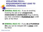 violating fdca s requirements may lead to criminal charges
