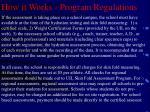how it works program regulations8