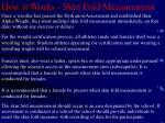 how it works skin fold measurement