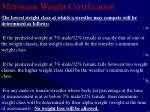 minimum weight certification24