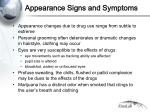 appearance signs and symptoms