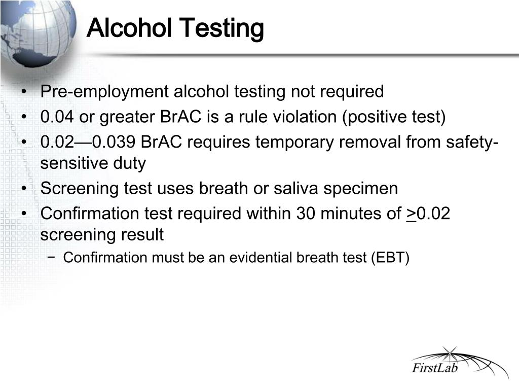 Alcohol Testing