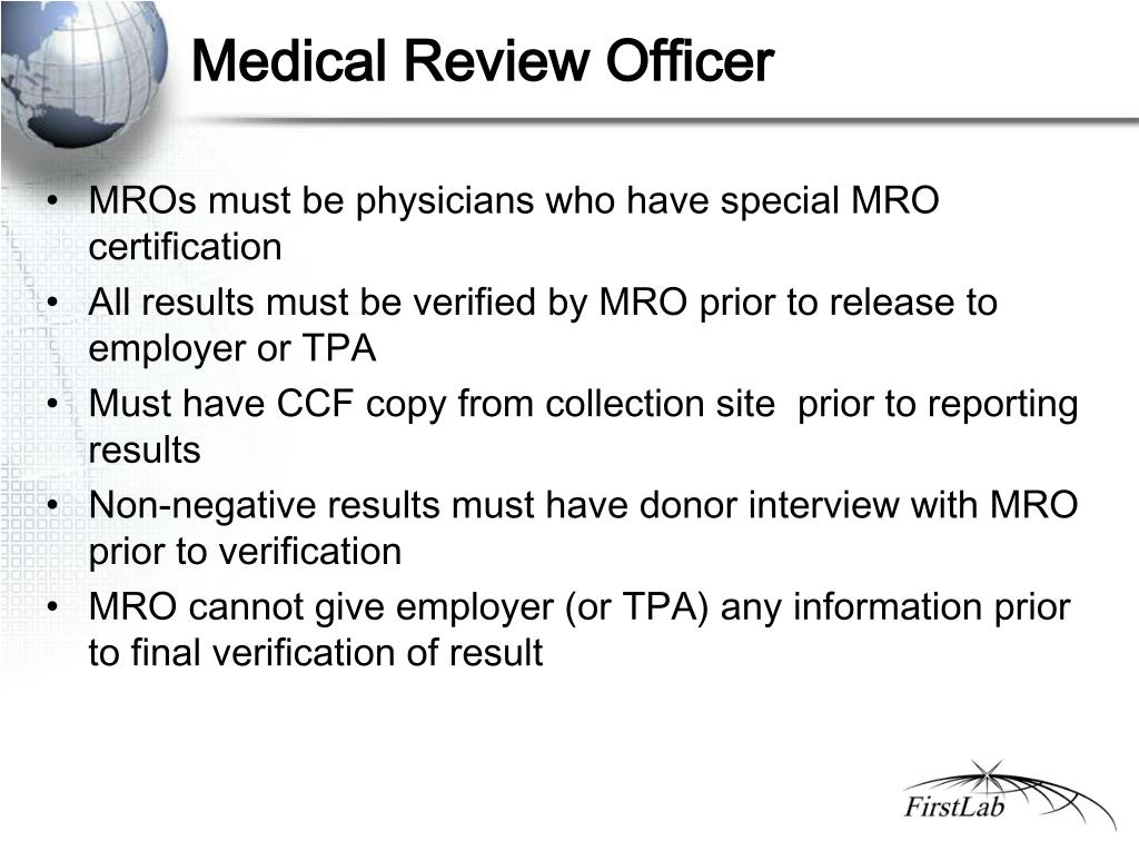 Medical Review Officer