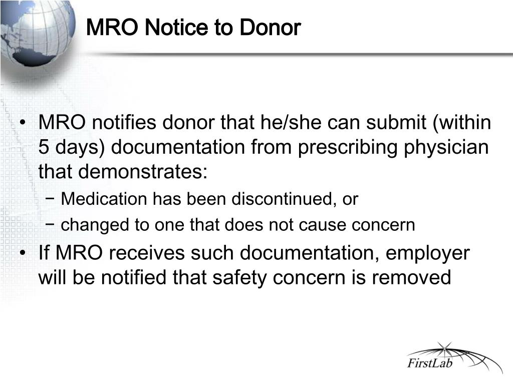 MRO Notice to Donor