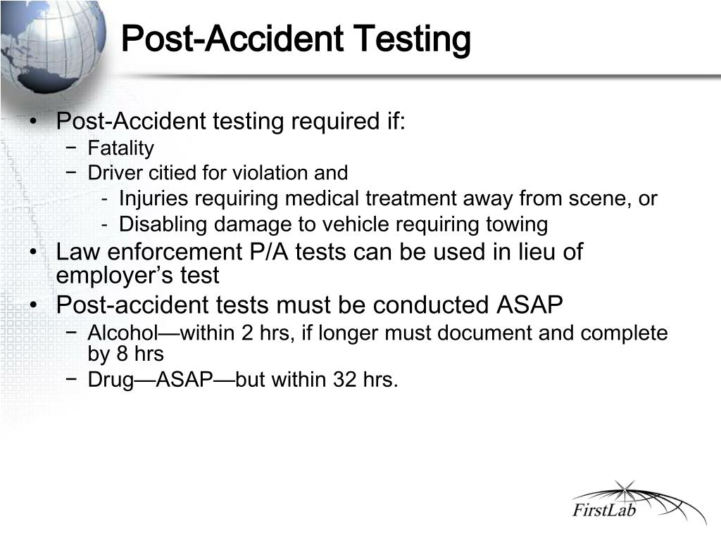 Post-Accident Testing