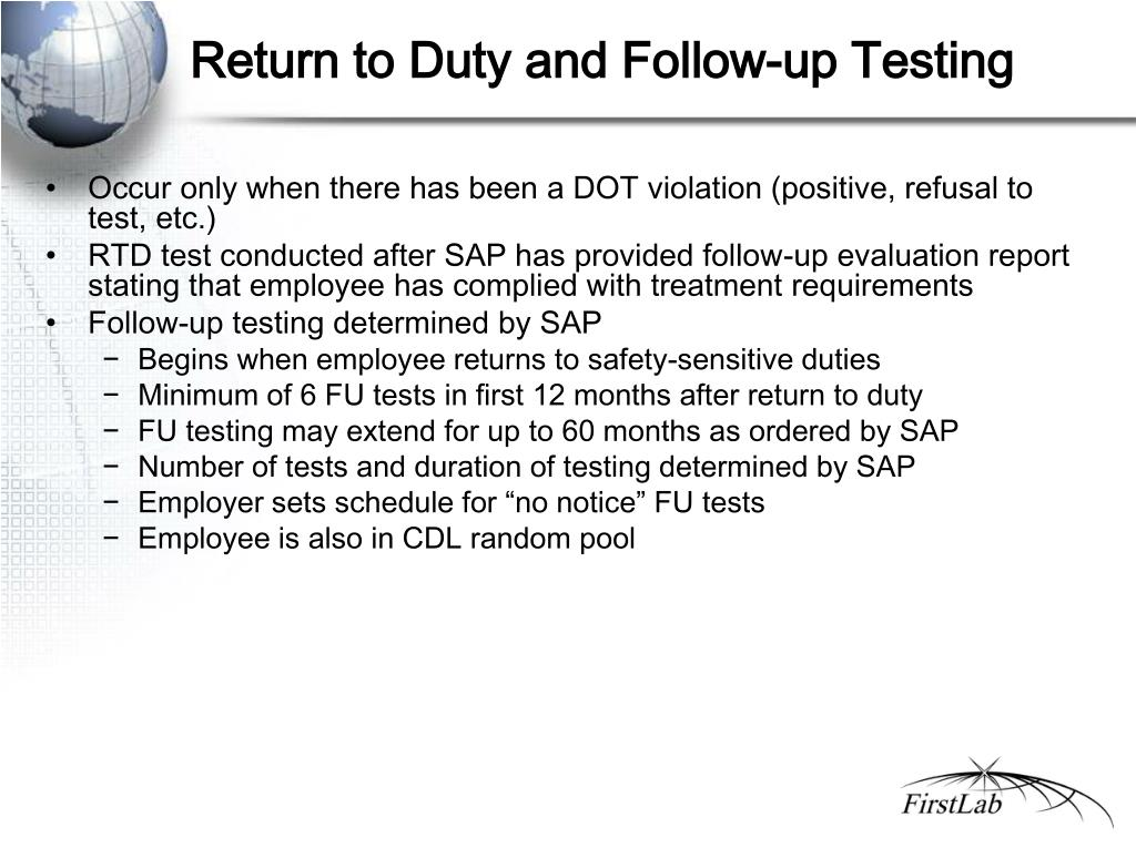 Return to Duty and Follow-up Testing