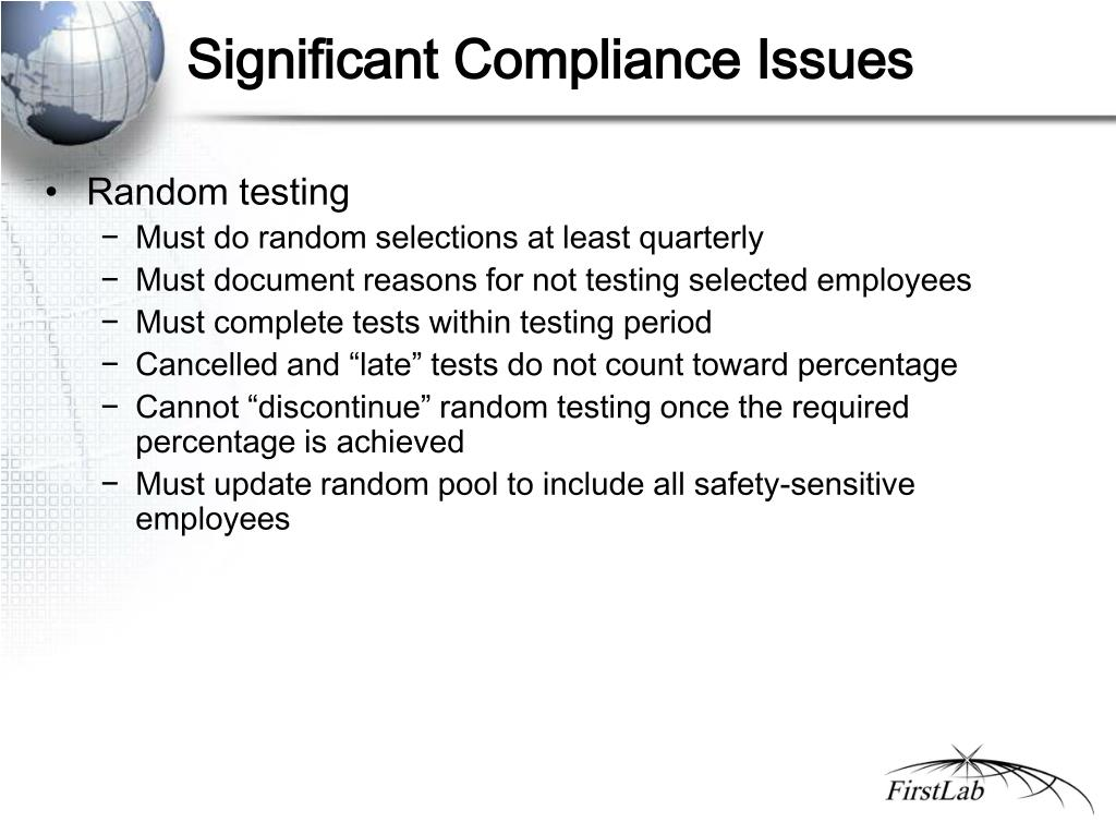 Significant Compliance Issues