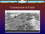 construction of canal