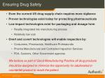 ensuring drug safety