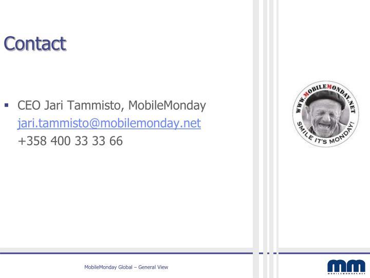 CEO Jari Tammisto, MobileMonday