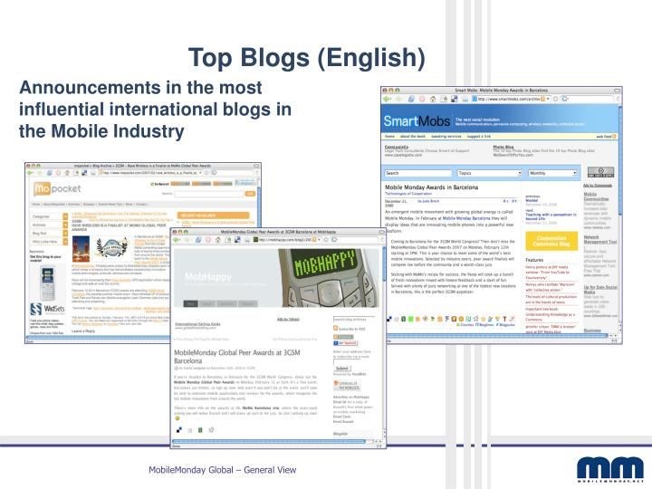 Top Blogs (English)