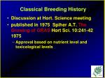 classical breeding history26