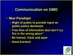 communication on gmo91