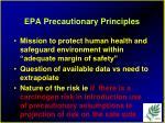 epa precautionary principles