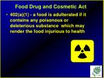 food drug and cosmetic act